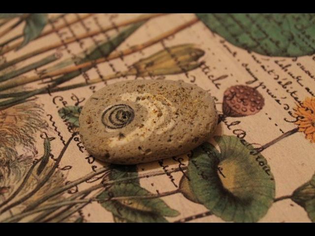 Имитация камня и перевод рисунка на полимерную глину, мастер класс