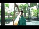 Let it go - Harp cover - Mai Fukui 福井麻衣(アナと雪の女王より)