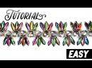Tutorial beaded bracelet Exotica using DAGGER beads / Легкий браслет из бисера Экзотика