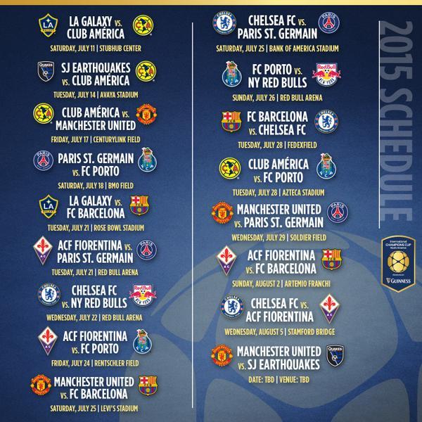 Расписание Международного Кубка Чемпионов