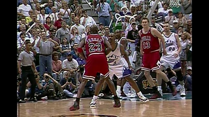 'The Flu Game' Chicago Bulls vs. Utah Jazz 11.06.97 Game 5 Finals Playoffs 1997 2nd halftime