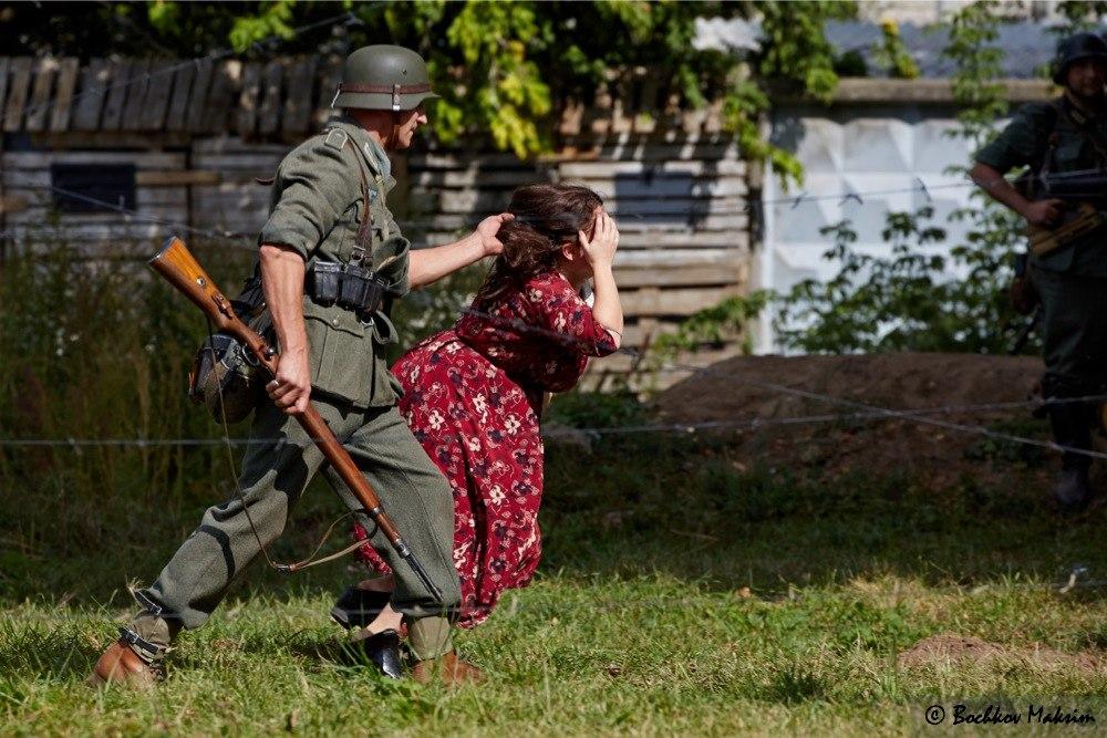 В Коломне прошла военно-историческая реконструкция по освобождению концентрационного лагеря «Красный».