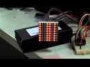 8x8 LED matrix via single 74HC595