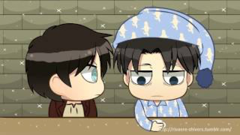 SNK Chibi Shorts Levi gets tired and feel proud of Eren