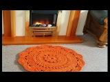 Ажурный коврик из шнура МК 10-11 ряды