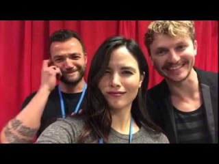 Katrina Law Actors without directors... Nick E Tarabay @chad rook Pensacon 2015 Arrow vs The Flash