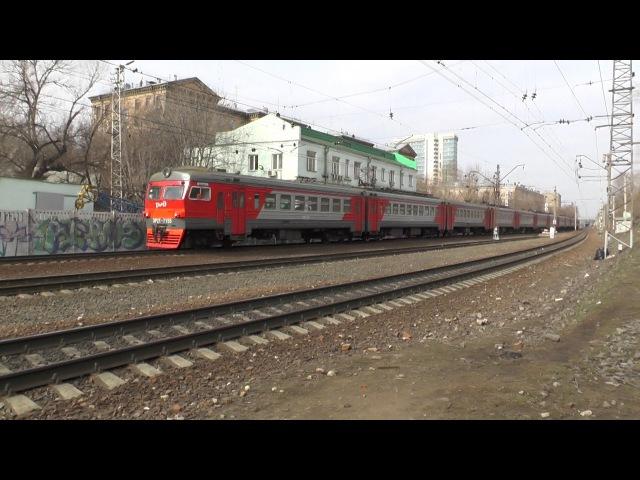 Электропоезд ЭР2Т-7155 станция Москва-Пассажирская-Смоленская