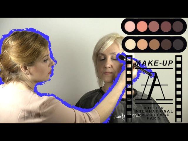 ЖЕНСКИЕ СЕКРЕТЫ - Возрастной макияж 45 в карандашной технике | Age Makeup 45