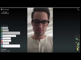 More Brendon Urie on Periscope 5-13-15