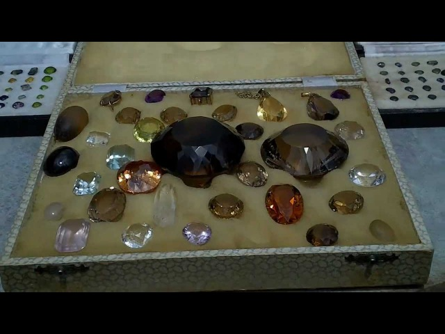 Gemstone treasure, Large Faceted Citrine, Smoky quartz, Sapphires and many more.