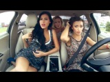 Watch These Hot Russian Girls Get High In The Car.