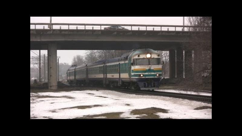 Дизель-поезд ДР1А-228 в о.п. Китсекюла / DR1A-228 near Kitseküla stop