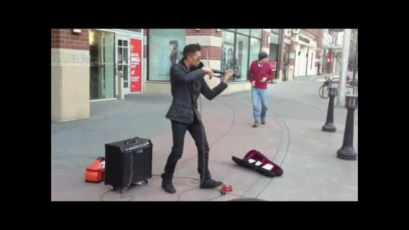 Talented Street Electric Violinist Bryson Andres SECRETS