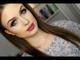 Neutral eyes &amp dusty rose lips tutorial  Soft fall makeup