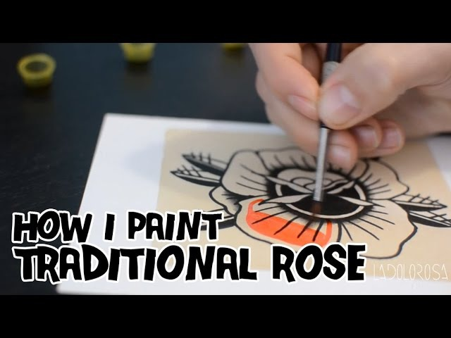 How I paint a Traditional Rose / Pintando una Rosa Tradicional