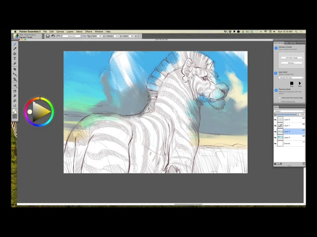 Wacom Intuos tutorial, Step 3: Roughing in Color in Painter Essentials with Aaron Blaise