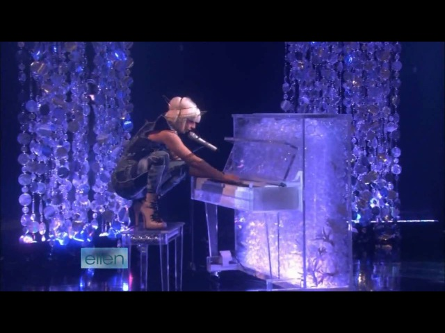 Lady GaGa Poker Face Live on Ellen HD with Interview