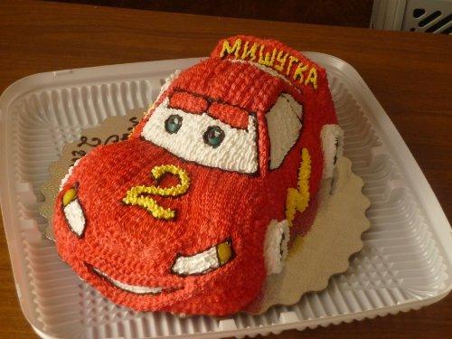 Торт машинка  из сливок 108