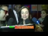 Адриана даёт интервью после дня рождения Веры Ольц (16.08.2012)
