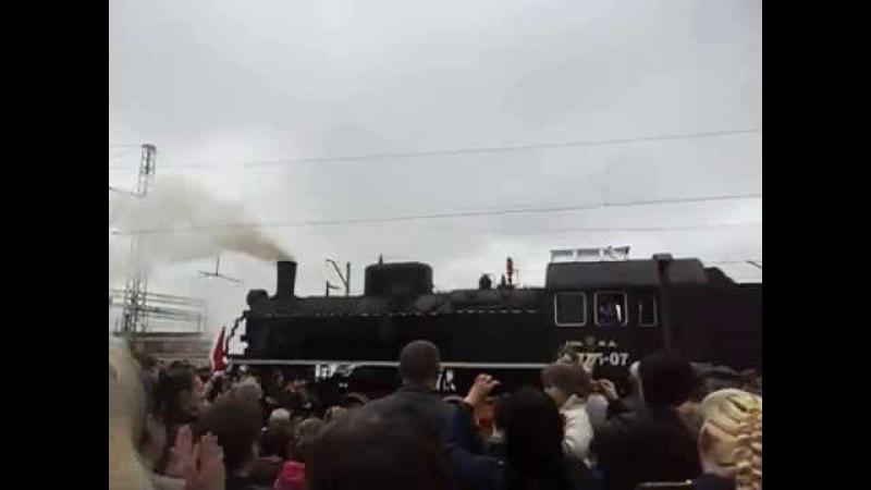 Ясиноватая. Поезд Победы 9 мая 2015