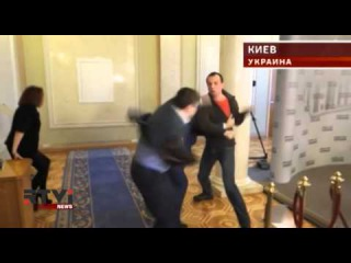 В бой идут одни депутаты: драка между народными избранниками от партий