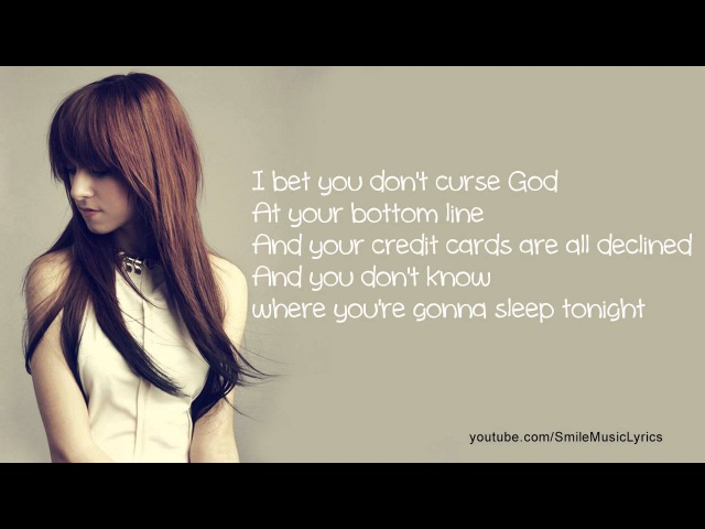 Christina Grimmie - I Bet You Don't Curse God Lyrics