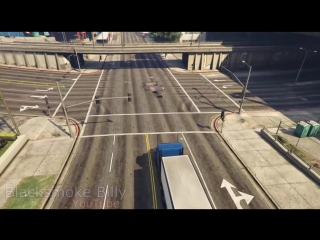 GTA 5 - Semi Truck Stunt with C4 Nuke Mod