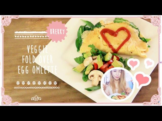 Veggie Fold Over Omelette Low Calorie Diet Recipe Great Breakfast Idea | Wengie's Healthy Kitchen E7