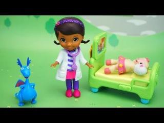 Доктор Плюшева, Стаффи и Лэмми. Игрушки из мультфильма Doc McStuffins  Disney. Открываем и играем