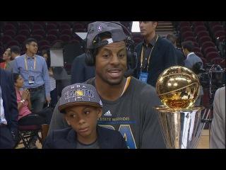 Andre Iguodala Joins GameTime | Warriors vs Cavaliers | Game 6 | June 16, 2015 | 2015 NBA Finals
