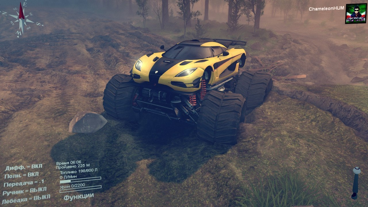 Koenigsegg-one1 Monster truck для Spintires - Скриншот 1