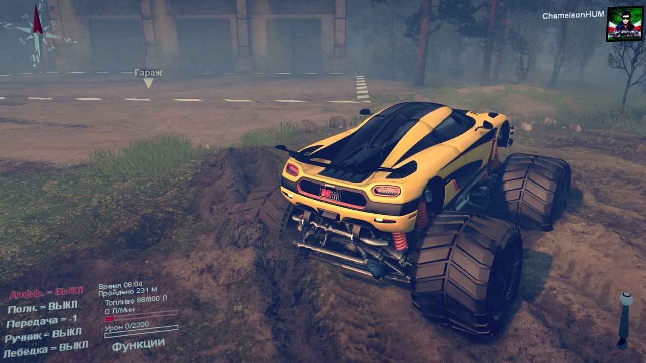 Koenigsegg-one1 Monster truck для Spintires - Скриншот 3