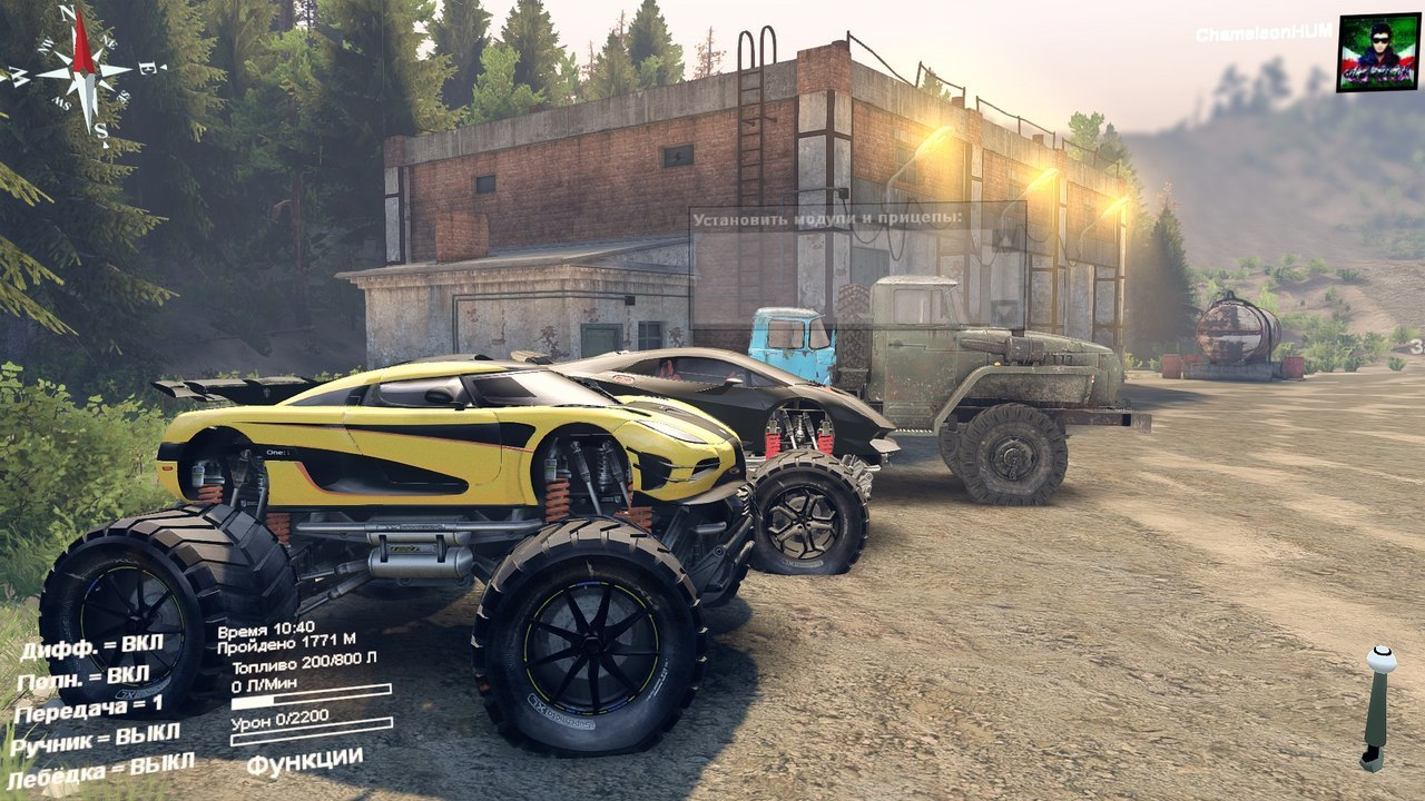 Koenigsegg-one1 Monster truck для Spintires - Скриншот 2