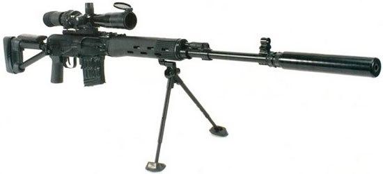 и от винтовки СВ-98 и от