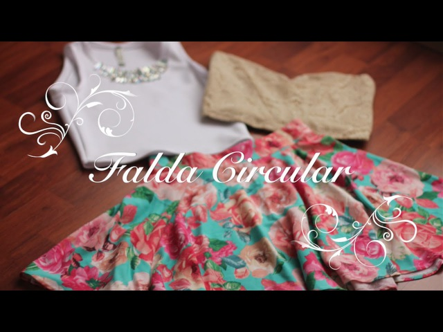 Como hacer una Falda circular perfecta (Trazo y Confección)