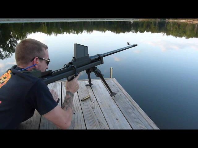 Boys Mk1* Anti-Tank Rifle 5 round magazine test fired (.50bmg conversion)