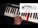 Самоучитель игры на синтезаторе Урок 1 Нотная грамота высота звука Играем по нотам