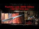 Puukko cpm S90V 62hrc 130*27*4.9 mm
