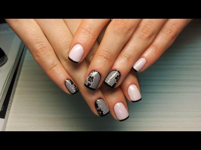 Дизайн ногтей гель-лак Shellac слайдер дизайн (уроки дизайна ногтей)