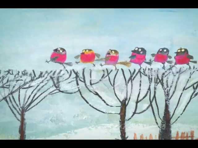 Круглый год Январь Снегири и коты