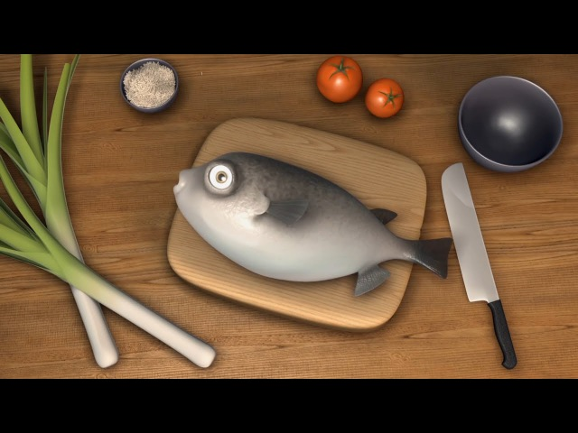 Animated movie How to cook Fugu Анимационный мультик Как приготовить рыбу Фугу