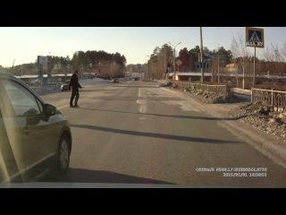 Пытался выдавить с полосы - Снежинск 1 февраля 2015