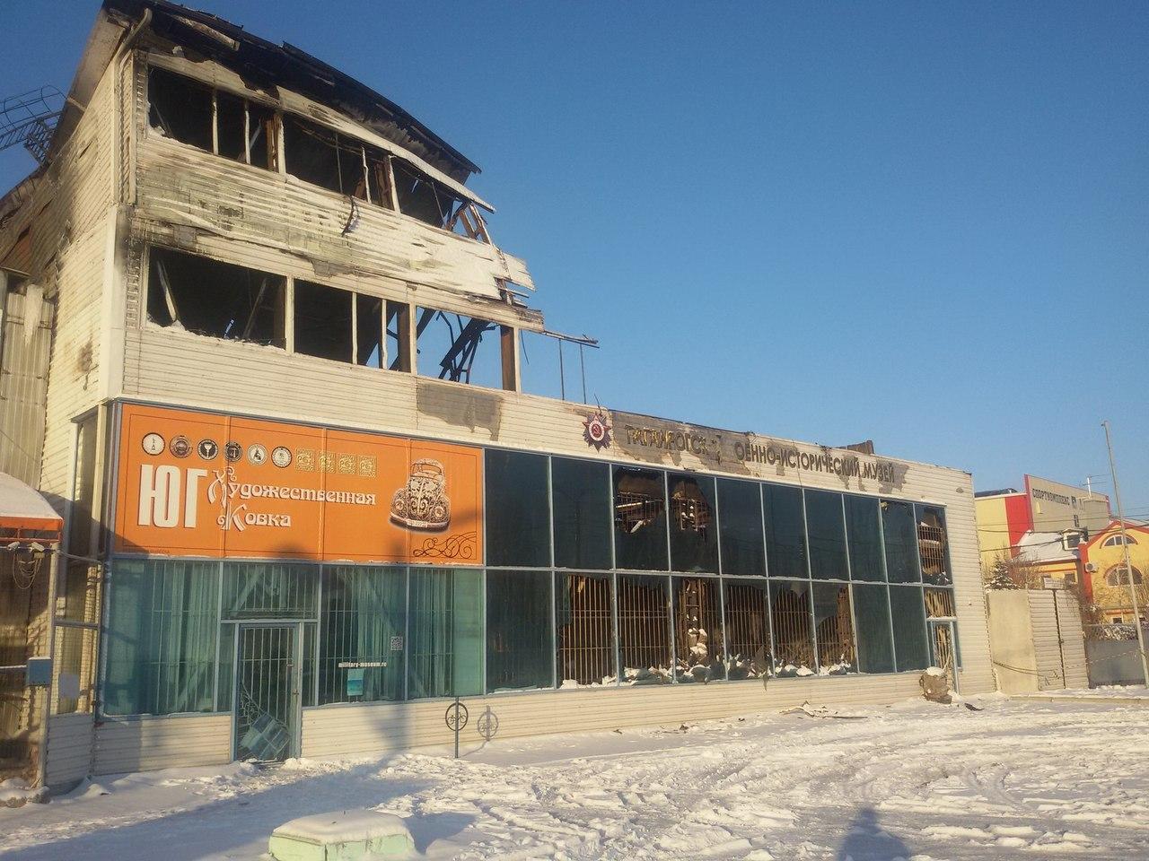 В Таганроге продолжается восстановление сгоревшего военно-исторического музея