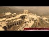 Drone footage of war damaged crusader castle Krak Des Chevaliers in Syria