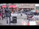 Amazing freestyle street session in Paris - The First time these 2 guys meet.