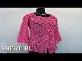 Нарядный яркий пиджак крючком Урок 70 часть 2 из 2 Crochet Squares Jacket