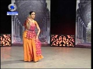 Swati Wangnoo Tiwari - Kathak Dancer, performing a thumri, broadcast on Doordarshan