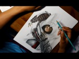 Time Lapse Drawing: Altair from Assassin's Creed
