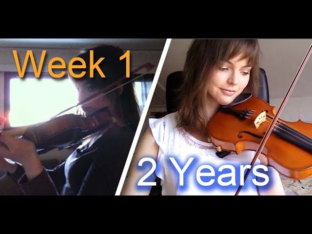 Adult beginner violinist 2 years progress video