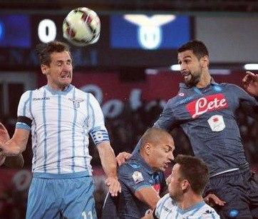1/2 КИ: Наполи - Лацио 0:1. Наполи покидает Кубок Италии